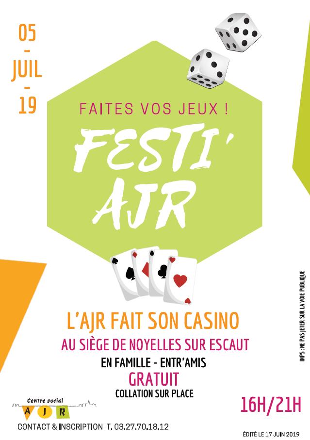 Festi AJR centre social fait son casino