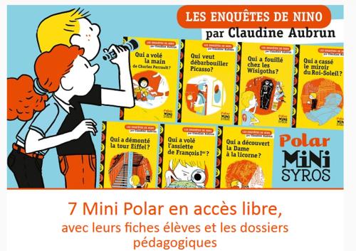 Les enquêtes de Nino : des romans policiers pleins d'humour à lire gratuitement en ligne (7 ans et +)
