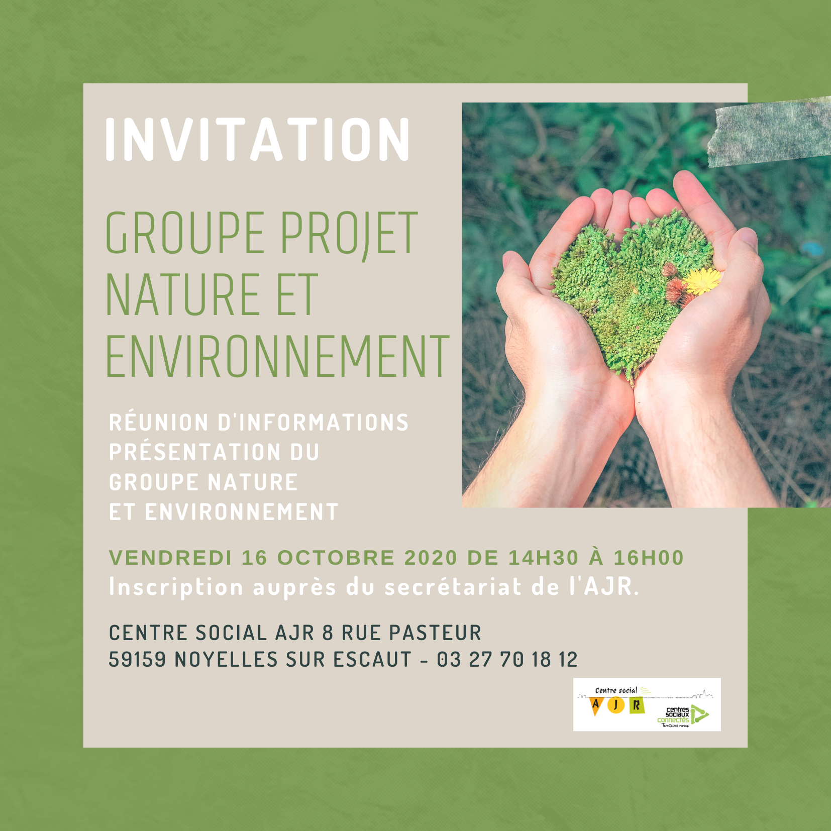Invitation groupe projet nature et environnement