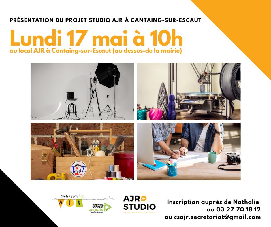 Le Studio : un lieu d'animation et de création orienté numérique,Imprimante 3D, créationet réparation objets, création graphique,studio vidéo...