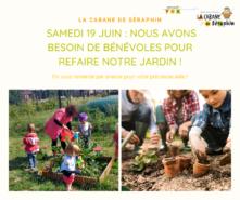 Jardinage à la micro crèche : bénévoles