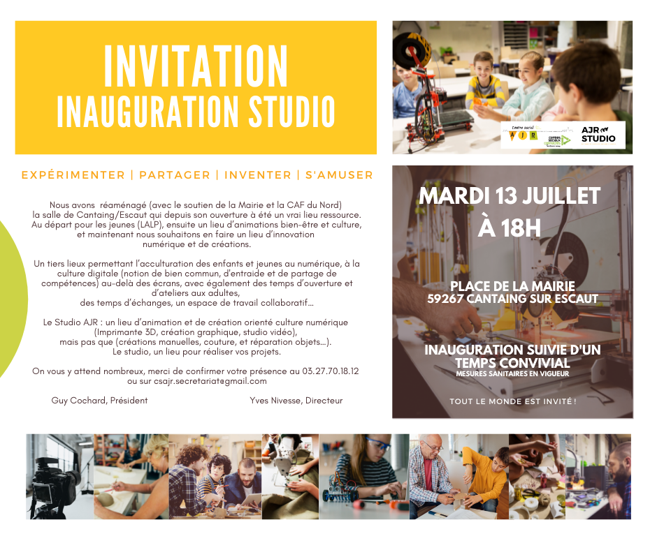 invitation inauguration Studio AJR