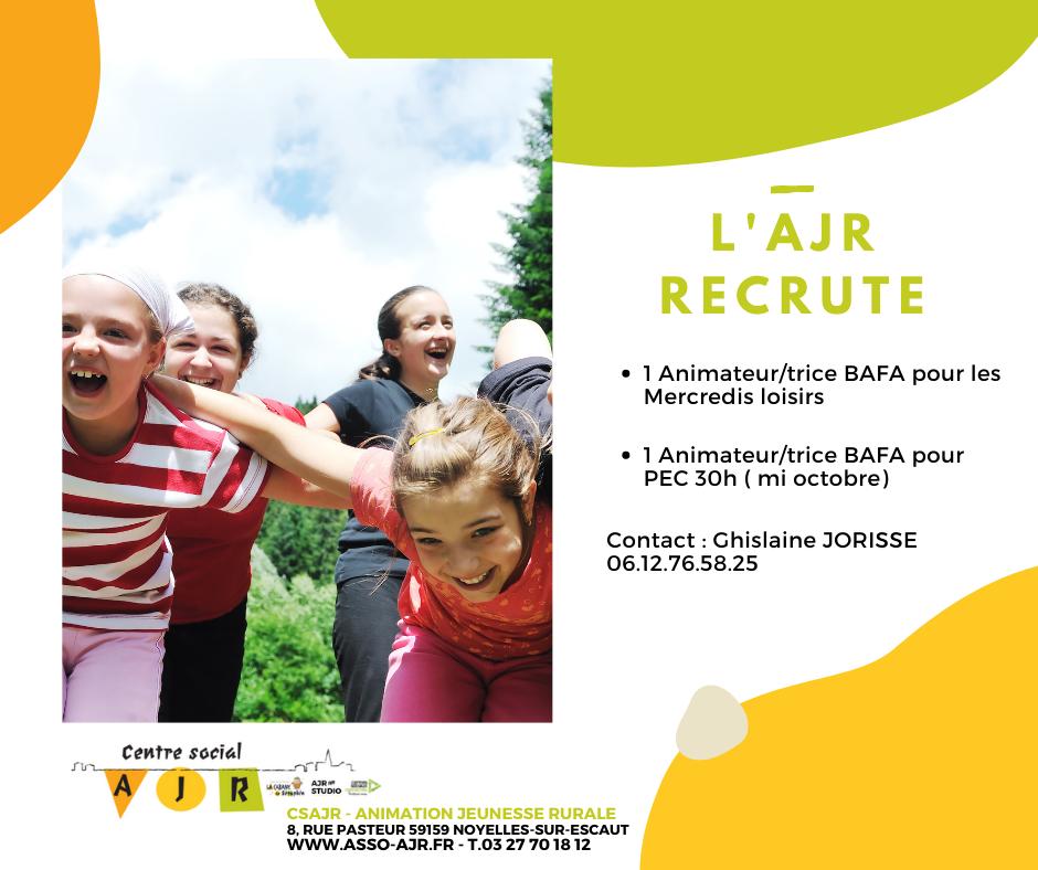 ajr recrute secteur enfance et jeunesse
